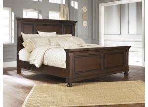 Porter Brown King Panel Bed