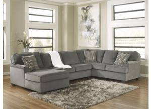 Loric Smoke Left Facing Chaise Sectional