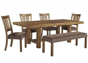 Tamilo Dining Table w/4 Chairs & Bench