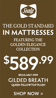 Gilded Breath Sealy Mattress