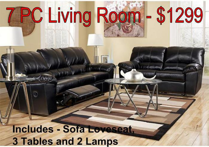 7 Pc Living Room Package - $1299,Darwish Furniture Specials