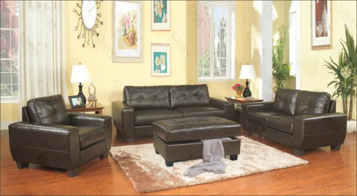 Brown Sofa & Love Seat ,Glory Furniture Specials