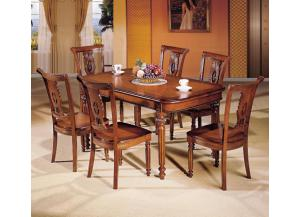 Rectangular Extension Table and 6 Chairs