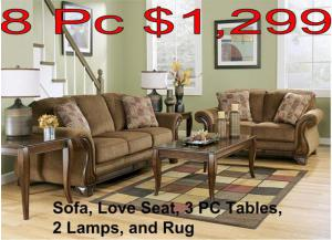 8 Pc Living Room Package - $1299