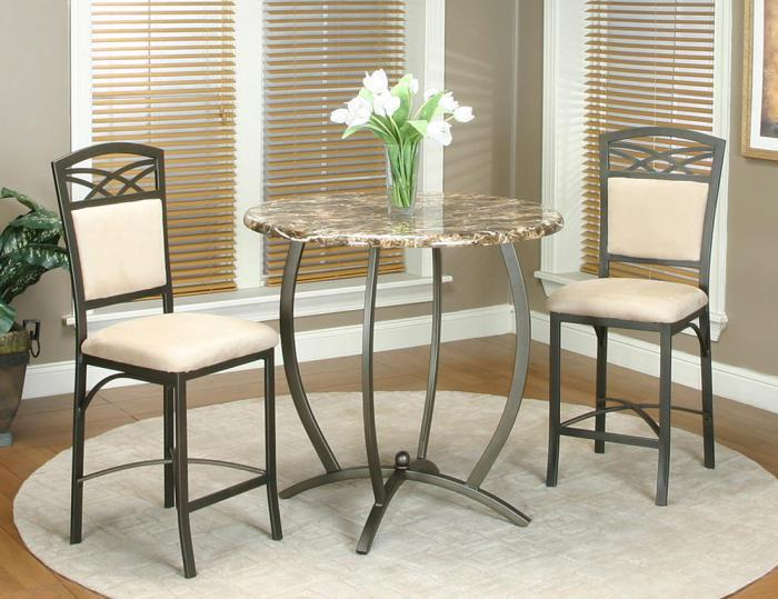 Atlas Pub 3 Piece Counter Height Dining Set Table & 2 Stools,Cramco Dining