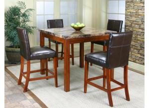 Mayfair Counter Height Dining Table & 4 Chairs