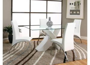 Mensa White Dining Chairs (Set of 4)
