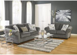Makonnen Charcoal 7PC Living Room Set