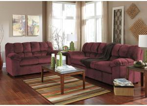 Judson Burgundy 7PC Living Room Set