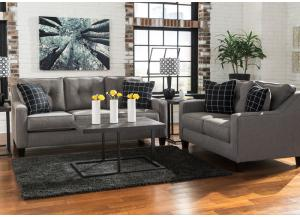 Brindon Charcoal 5PC Living Room Set