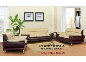 2 Tone sofa+loveseat