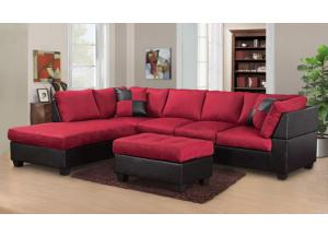 red/black,No ottoman