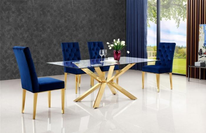 Velvet Dining Collection,Glam Collection By Direct Mattress