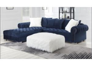 Navy Velvet Sectional
