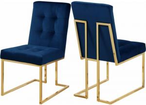 Image for Pierre Navy Velvet Dining Chair (Set of 2)