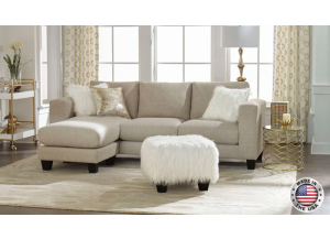 Reversible Beige Sectional