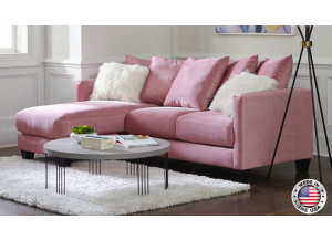 Pink Reversible Sofa Chaise