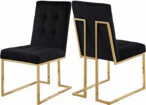 Image for Pierre Black Velvet Dining Chair (Set of 2)