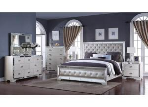 Gloria Queen Bed, Dresser, Mirror, Chest, 2 Nightstands