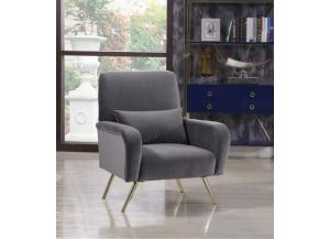 Clarissa Grey Velvet Chair