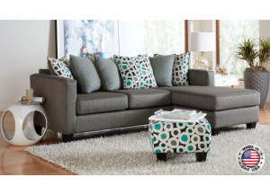 Grey Reversible Sofa-Chaise