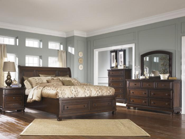 Porter Queen Storage Bed, Dresser & Mirror,HomeStretch