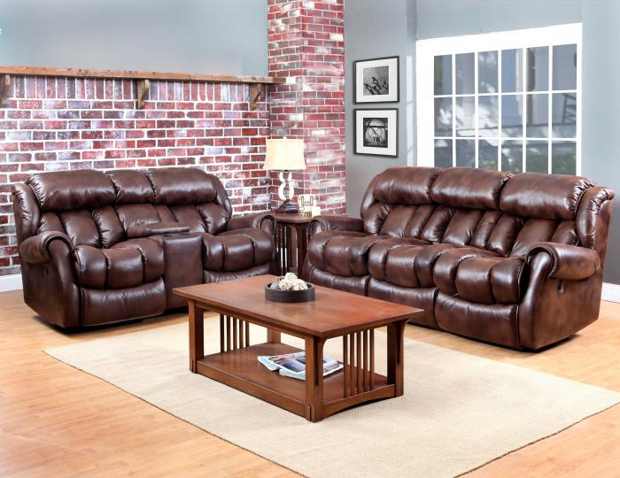 Espresso Power Reclining Sofa & Reclining Loveseat,HomeStretch