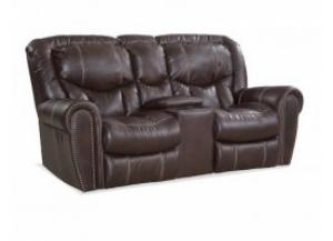 Chocolate Rocking Reclining Loveseat