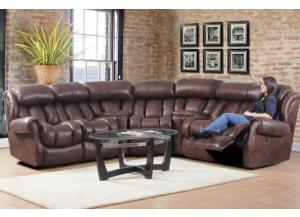 Espresso Power Reclining Sectional