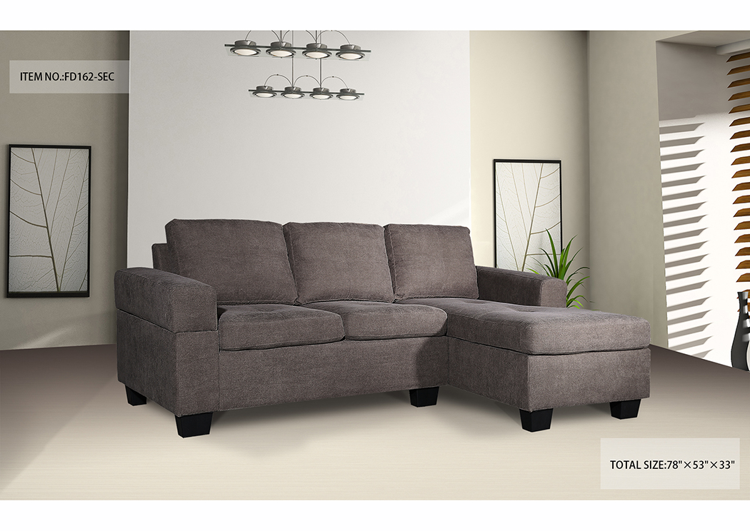 Sectional Brown Fabric,In-Store Product
