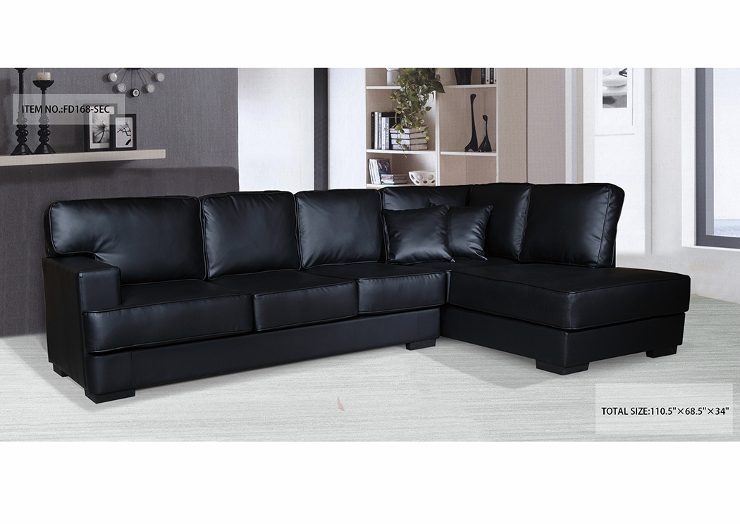 Sectional Black Bonded,In-Store Product