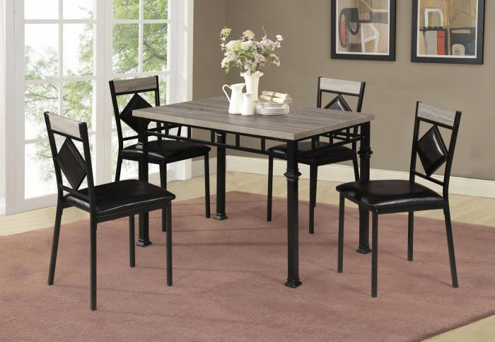 Fairfax Black Metal 5 PC Dining Set,InStore Products