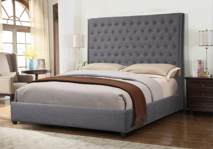 Augusta Gray King Bed ,InStore Products