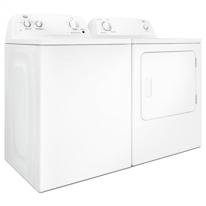 Roper 3.5-cu ft High Efficiency Top-Load Washer & Roper 6.5-cu ft Electric Dryer (White),InStore Products