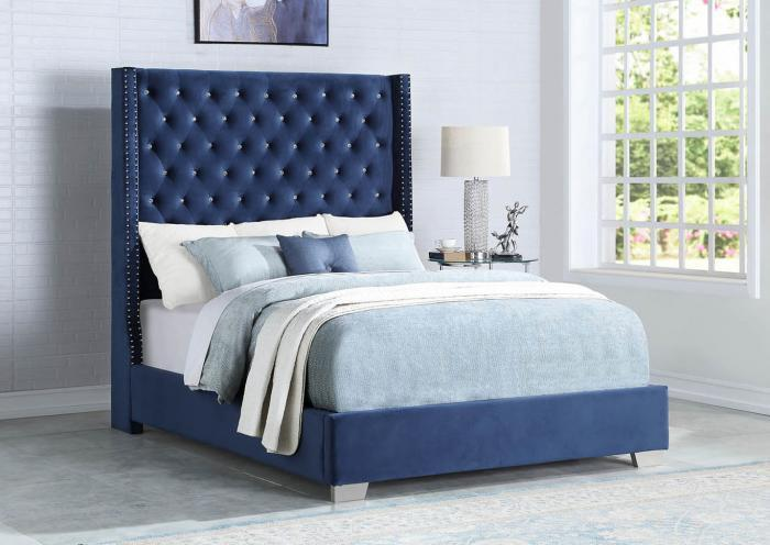 Aria  Blue Queen Bed,InStore Products