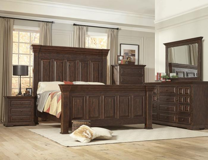 Sawyer King Panel HB/FB 5 PC set (dresser,mirror,nightstand,chest),InStore Products
