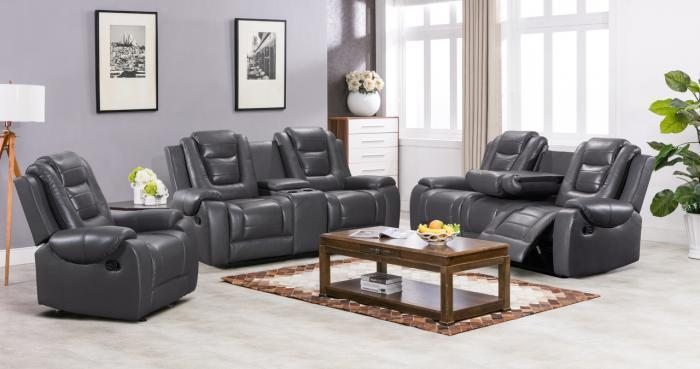 Austin Gray Motion 3 PC Living Room Set,InStore Products