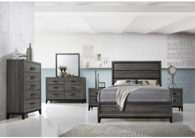 Tyler Gray Panel Queen 5 PC set (dresser,mirror,nightstand,chest)