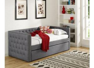 Trina Gray Twin Daybed with Trundle