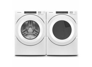 Amana 4.3-cu ft High Efficiency Stackable Front-Load Washer & 7.4-cu ft Stackable Electric Dryer (White) ENERGY STAR