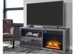 Derekson 59-inch TV stand with electric fireplace