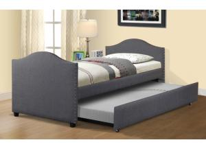 Dulce Gray Twin Bed with Trundle