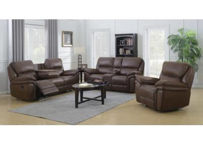 Lariat Brown Motion 3 PC Living Room Set