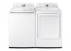 Samsung 4.5-cu ft Top-Load Washer & 7.2-cu ft Electric Dryer (White)