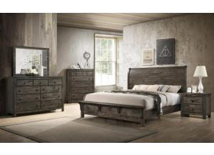 Mustang Rustic Gray Queen 5 PC Set (dresser,mirror,nightstand,chest)