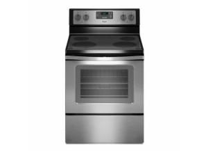 Whirlpool Smooth Surface 4.8-cu ft Freestanding Electric Range (Black-on-stainless)