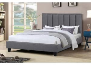 Mary Grey Queen Platform Bed