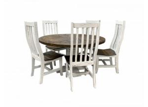 French Quarters Round distressed looking 5PC Dining table (4 Chairs)