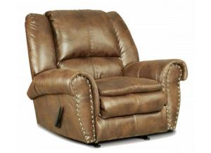 Padre Nailhead Almond Color Recliner with marble pattern