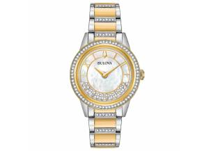 Image for Bulova Women's Two-Tone Crystal Watch